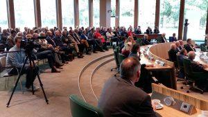 GroenOpgewekt 5.0 aanwezig op congres in Provinciehuis in Assen met Diederik Samson.