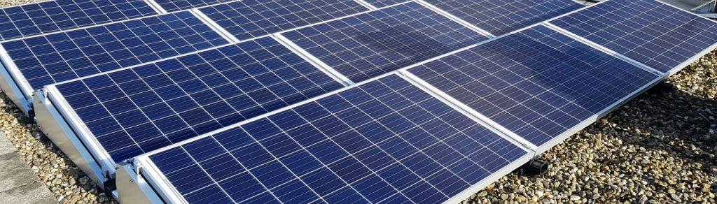 SolarWatt 60P Glas-Glas zonnepanelen op plat dak - Nagele