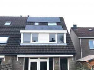 SolarWatt glas als zonnepanen met solaredge omvormer in Emmeloord.