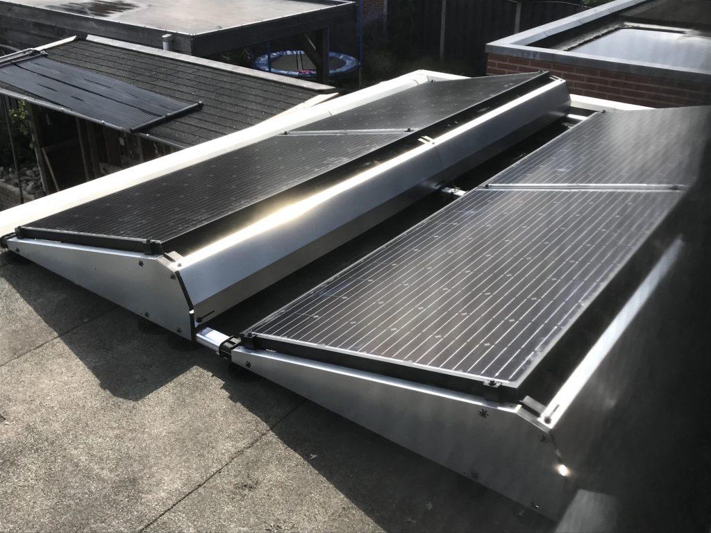 SolarWatt Glas-Glas PERC zonnepanelen met Flatfix Fusion in Hollandscheveld. SolarWatt Solarblue
