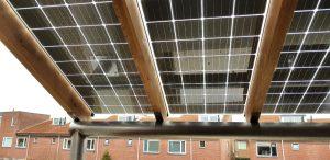 Zonneveranda (BIPV) in Meppel voorzien van Glas-Glas zonnepanelen