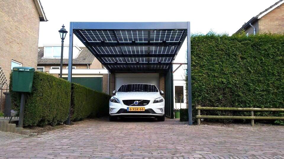 SolarWatt zonnecarport met
