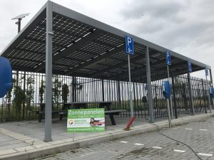 Primeur in Nederland, zonnerijwielstalling in Venlo