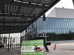 Zonnepanelen Rijwielstalling in Venlo met glas-glas SolarWatt zonnepanelen.