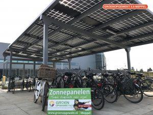 Zonnepanelen rijwielstalling met solarwatt glas glas zonnepanelen in Venlo