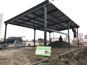 Rijwielstalling met geïntegreerde zonnepanelen - BIPV project Oosterhout