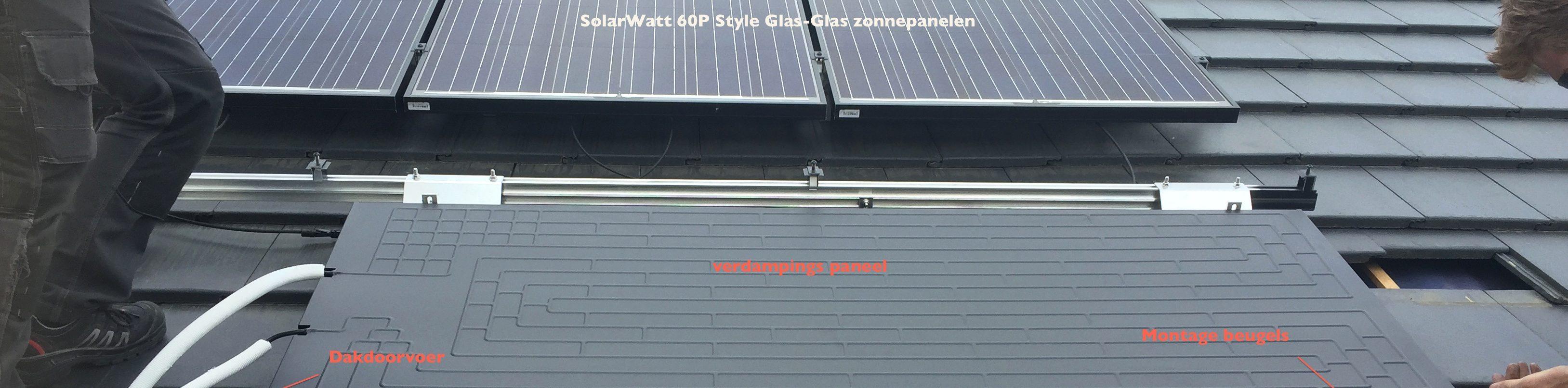 Verdampingspanelen onder zonnepanelen