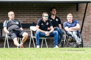 Cas Slurink (rechts) assistent coach MSC zaterdag 1
