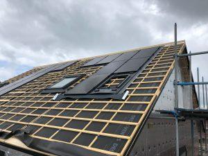 Indak zonnepanelen BIPV bij nieuwbouw woningen