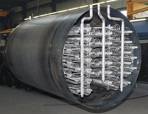 Industriële warmteboiler / buffervat van Forstner