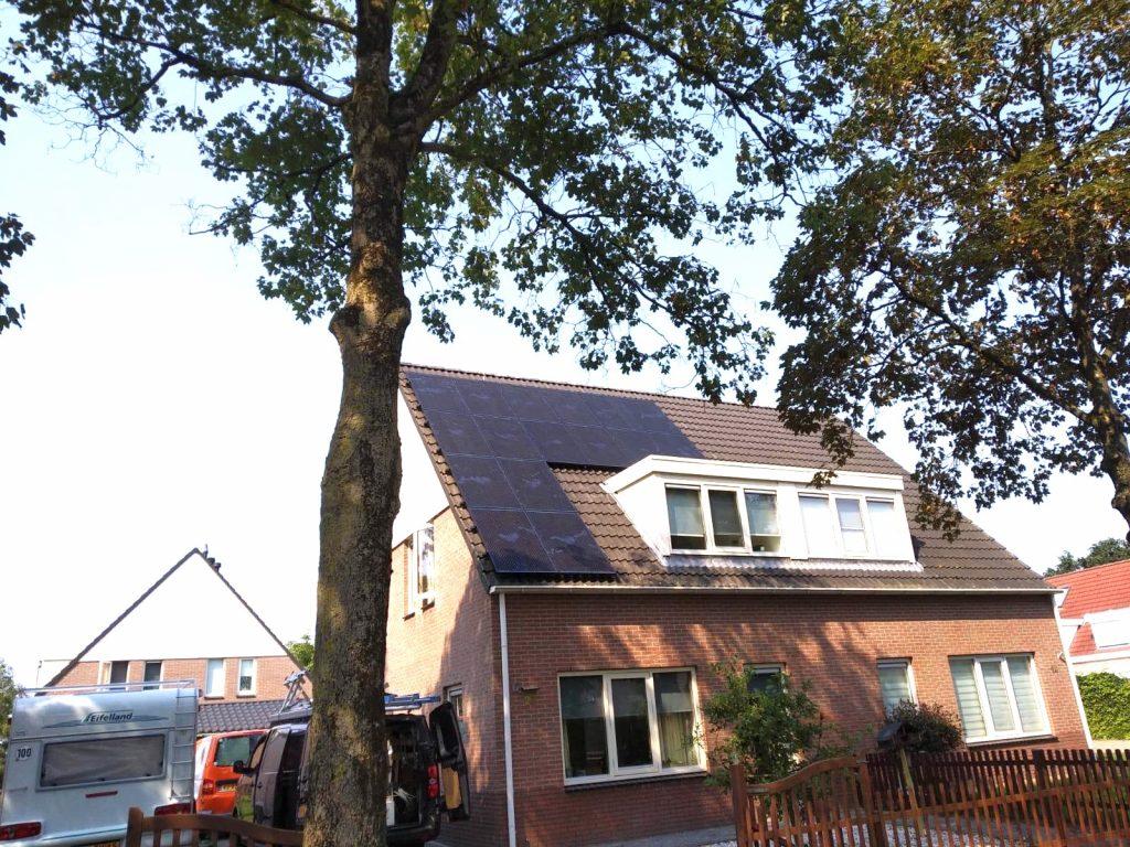 SolarWatt PERC Glas-Glas zonnepanelen geplaatst in Bourtange/ Groningen
