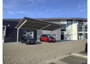Solar Carport, carport met zonnepanelen, zonnepanelen overkapping