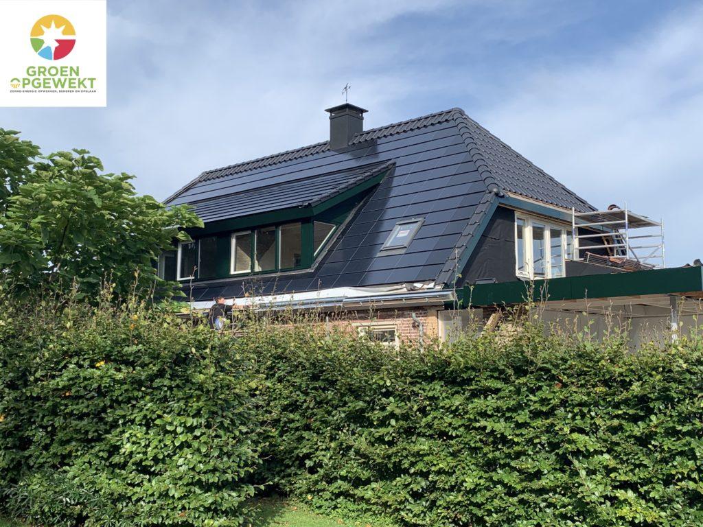 Exasun  X-roof zonnepanelen indak systeem in Hattem, bij Zwolle